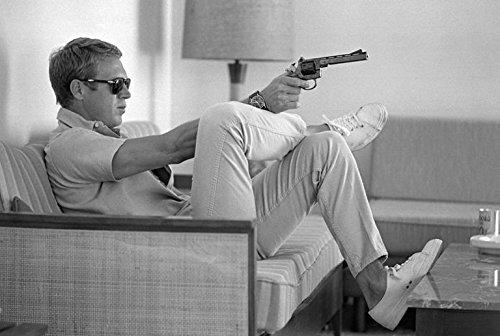 - Buyartforless Steve McQueen Relaxing with Gun 36x24 Photograph Art Print Poster