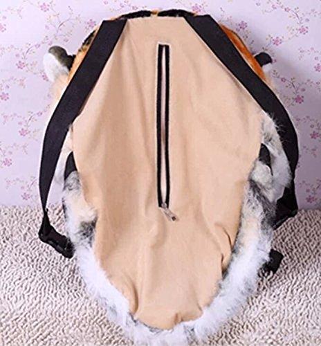 Plüsch 3D Tierkopf Rucksack Tasche Rucksack Tiger / Löwe / Leopard / Schwarzbär Kopf Rucksack Tasche Rucksack und Wandhalterung Tierkopf Schultern Tasche 26HrScpv