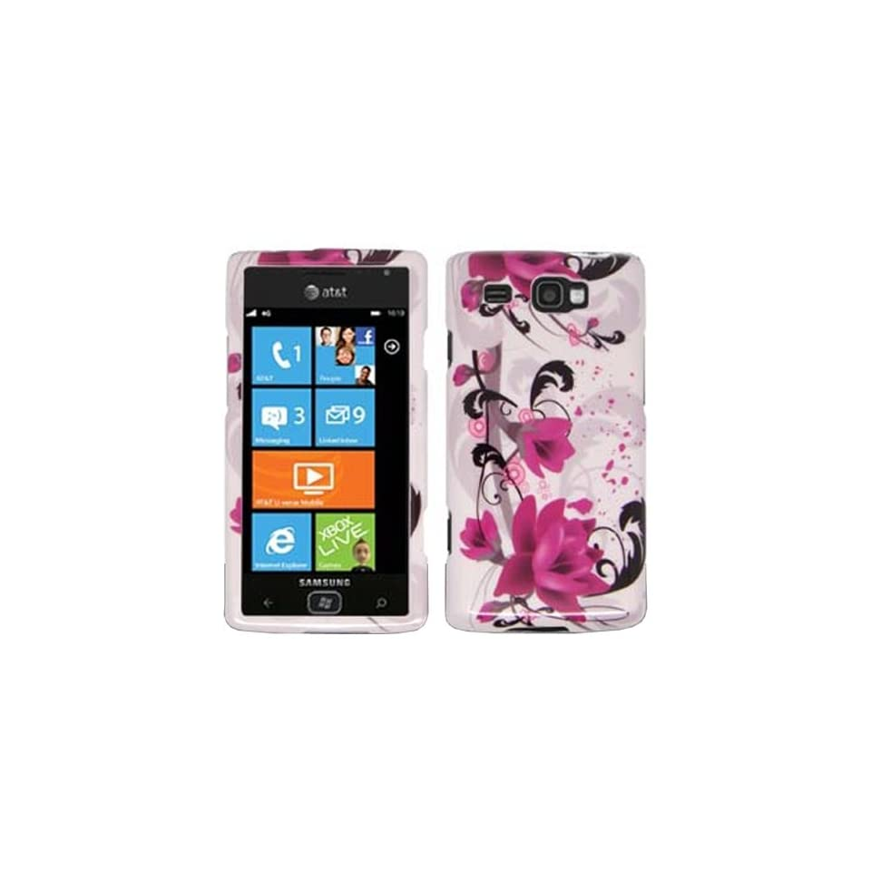 iFase Brand Samsung i677/Focus Flash Cell Phone Red Flower