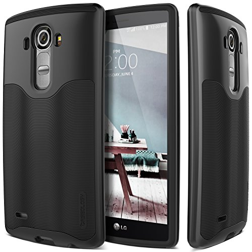 LG G4 Case, Caseology [Wavelength Series] Textured Pattern Grip Cover Shock Proof for LG G4 - Black