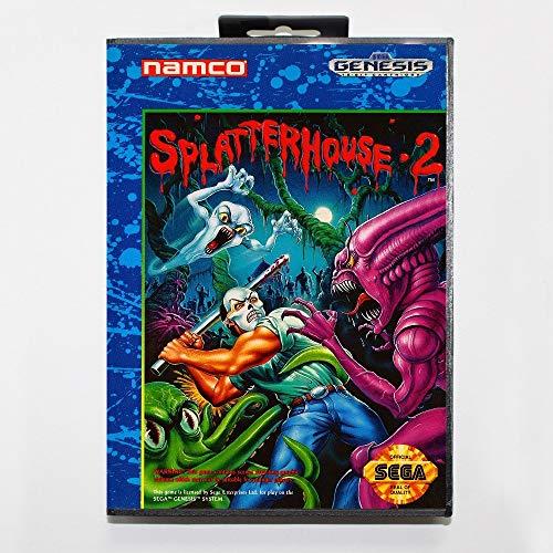 (The Crowd Tradensen Splatterhouse 2 16 Bit Md Game Card Include Retail Box for Sega Genesis & Mega Drive)