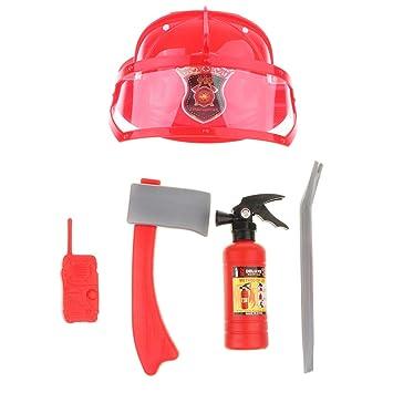 perfeclan Juguete de imitación Sombrero de Casco de Seguridad con Traje de Bomberos Juego Educativo para Bebés Niños - #1: Amazon.es: Juguetes y juegos