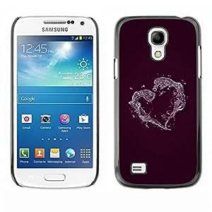 Be Good Phone Accessory // Dura Cáscara cubierta Protectora Caso Carcasa Funda de Protección para Samsung Galaxy S4 Mini i9190 MINI VERSION! // Minimalist Heart
