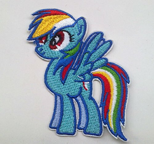 My Little Pony - Rainbow Dash Embroidered Patch/applique - Embroidered Pony