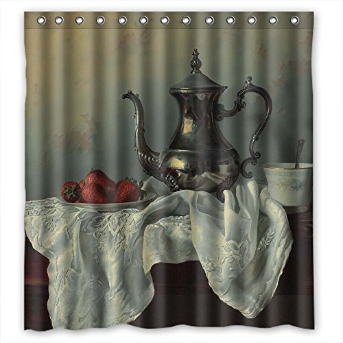 MaSoyy Width X Height / 72 X 72 Inches / W H 180 By 180 Cm Art Painting Flowers Shower Curtains Polyester Fabric Ornament And Gift To Couples Custom Him Family Her. Healthy
