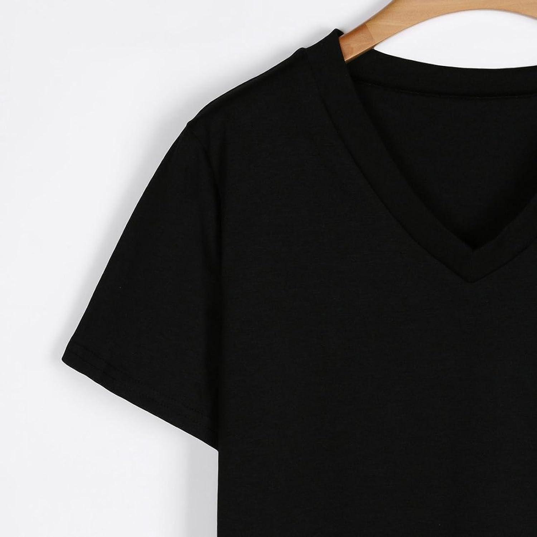 Amazon.com: DondPO Womens Short Sleeve V-Neck Irregular High Low Hem Loose Casual Tee T-Shirt Tops Solid Daily Summer Blouse Shirts: Clothing