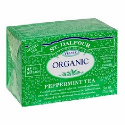 St Dalfour Peppermint Tea - St Dalfour Organic Tea, Tea Bags, Peppermint (6x25 Bag )