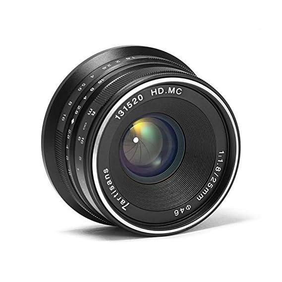 7artisans 25mm F1.8 Manual Focus Prime Fixed Lens for Fujifilm Fuji Cameras X-A1 X-A10 X-A2 X-A3 X-AT X-M1 XM2 X-T1 X