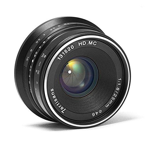 7artisans 25mm F1.8 Manual Focus Prime Fixed Lens for Fujifilm Fuji Cameras X-A1 X-A10 X-A2 X-A3 X-AT X-M1 XM2 X-T1 X-T10 X-T2 X-T20 X-Pro1 X-Pro2 X-E1 X-E2 X-E2s – Black