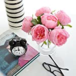 Butterfly-Craze-Artificial-Peony-Silk-Flower-Bouquet-for-Wedding-Floral-Arrangements-and-Home-Decoration-Pink-Color-5-Stem-Per-Set
