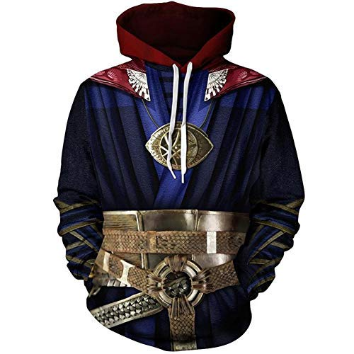 (Super Hero Hoodie Super Hero Costume Creative Fashion Sweater Halloween Costume (S,)