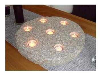 Teelichthalter aus echtem Granit 45 cm Durchmesser - Kerzenhalter ...