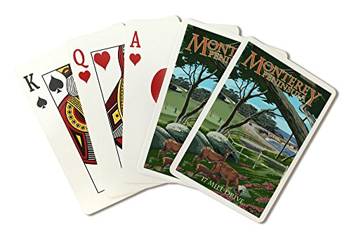 - Monterey Peninsula, California - 17 Mile Drive (Playing Card Deck - 52 Card Poker Size with Jokers)