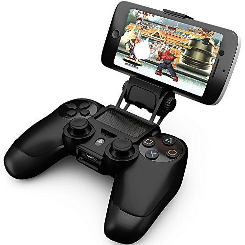 Ortz® PS4 Smart Clip Holder for PlayStation 4 Dualshock Controller - Best Clamp Bracket for Android Mobile Phones, Galaxy S3 S4 S5 S6 Note 2 3 4 & iPhone 4 4s 5 5s 6 (Control Android)