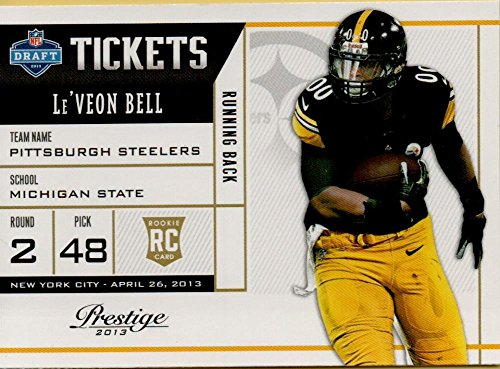 2013 Nfl Draft - 2013 Prestige NFL Draft Tickets #18 Le'Veon Bell RC Rookie Steelers