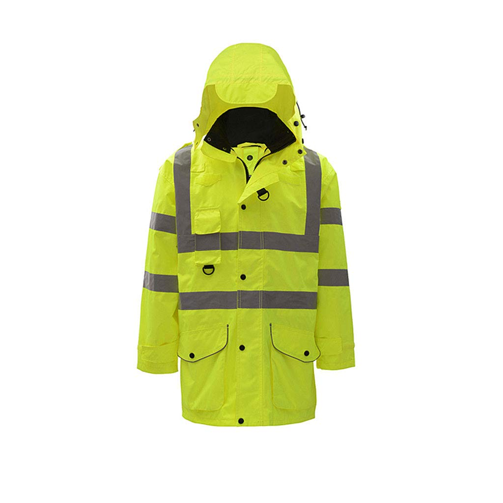 CIGONG-Coat rack Fluorescent Jacket, Reflective Cotton Jacket, Road Traffic Suit, Riding Jacket, Men's Jacket Reflective Vests (Size : S)
