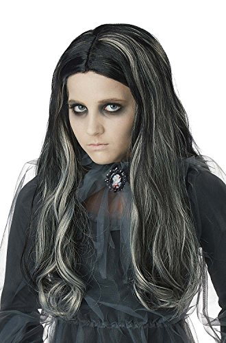 California Costumes Bloody Mary Girl Wig Children Wig, Black ()