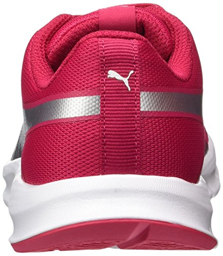 Puma Flexracer Jr, Zapatillas Unisex Niños Rosa (Love Potion-silver)