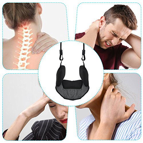 Bontata Neck Hammock Portable Cervical Traction Device for Relieves Head & Shoulder Pain in Less Than 10 Minutes. Comes with Bonus Eye Mask by Bontata (Image #5)