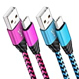 Cell Phone USB Type C Cable, Amtobo 2 Pack 6ft Long Nylon Braided Charger C Cord, High-Speed Syncing Charging Cable for Samsung Galaxy S8 S9 8S 9S Note 8 Note 9, LG G6 G5 V20 G7 ThinQ