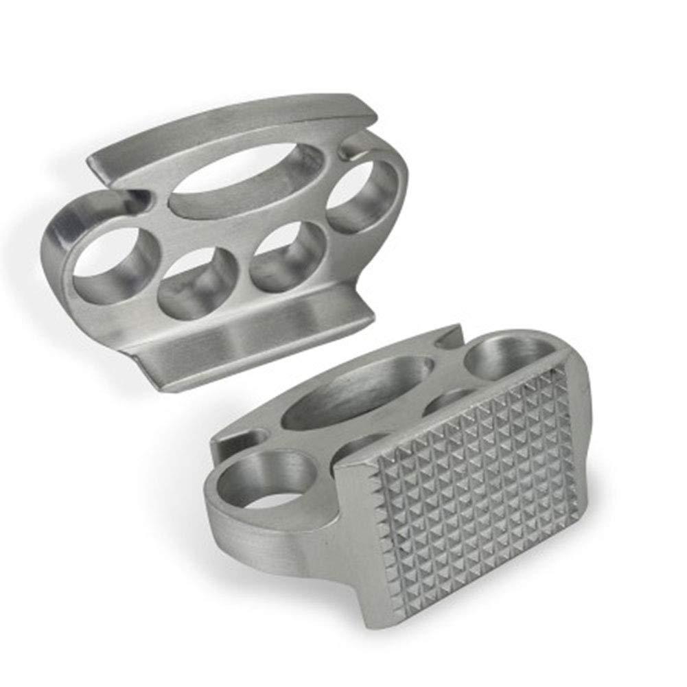 JER Meat Tenderizer Aluminum Alloy Heavy Duty Hammer Mallet Kitchen Gadget Tools for Beef Chicken Steak Beefs Pork