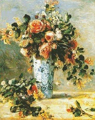 flower in vase 95 colors 14ct 321x400 stitch 67x82cm cross s