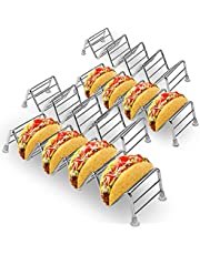 qing niao Taco rack stand, 4 stainless steel taco trays, rack can hold up to 4 tacos, each taco keeps upright, RTTs healthy material taco rack- oven, grill and dishwasher Safety