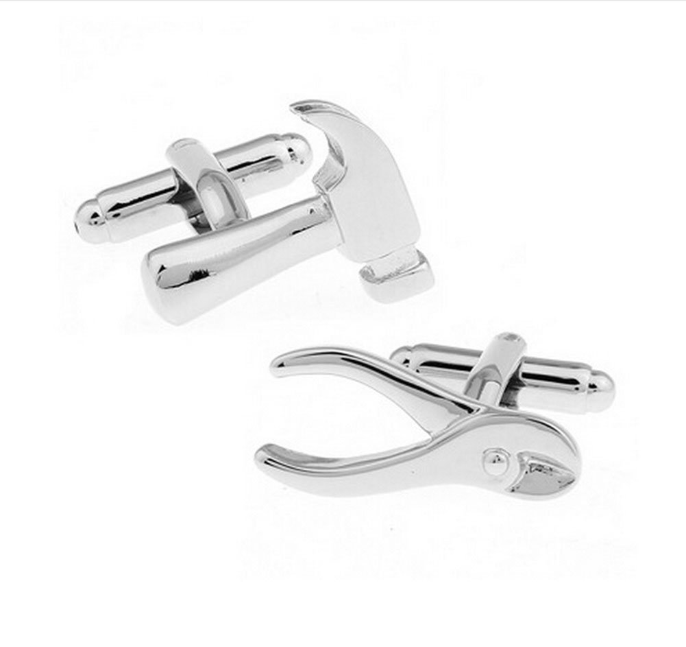 Hosaire Men's Cufflinks Fashion Personality Silver Hammer Cuff Link Delicate Cuff-link for Party