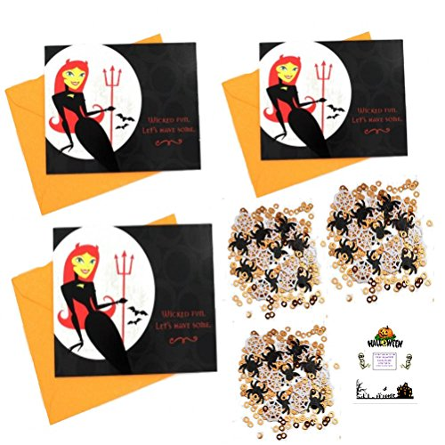 Halloween Adult Party Invitations 30 Wicked Fun Invites With Envelopes & Confetti Idea (Adult Halloween Sayings)
