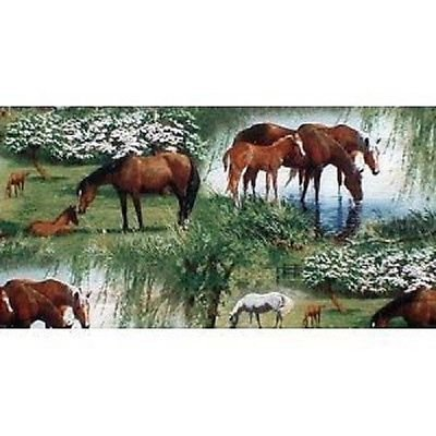 1-2-yard-willow-brook-horse-camp-horse-pony-fabric-by-persis-clayton-weirs-great-for-quilting-sewing