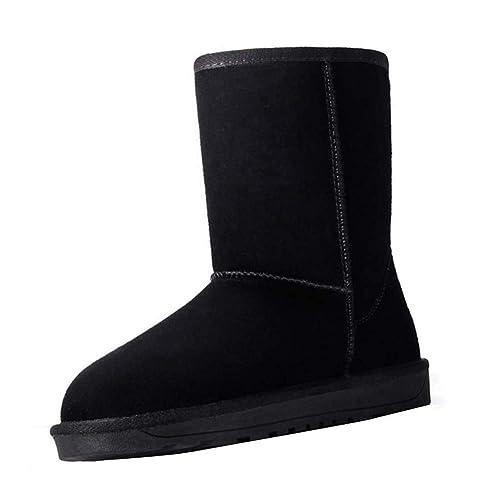 Uirend Zapatos Mujer Invierno Casual - Bajitos Botas de Nieve Mujeres Totalmente Alineada Botas Piel Antideslizantes Impermeable de Nieve del Invierno ...