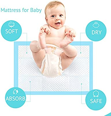 Ultra Absorbent for Baby Underpads Diaper Changes 13x18 in 150 Count Disposable Changing Pads 3x50 Pack Baby Bed Pads Waterproof Super Soft