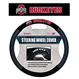 NCAA Ohio State Buckeyes Unisex NCAA Poly-Suede Steering Wheel Cover, Red, One Size