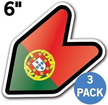 Portugal Flag JDM Design Car Vinyl Decals//Stickers