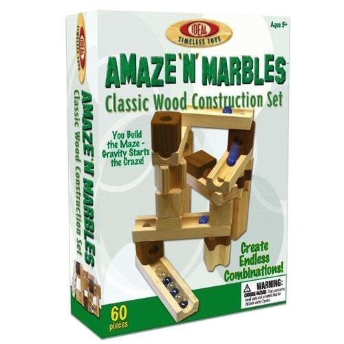 - POOF Slinky TPOO-09 60 Piece Amaze N ft. Marbles Classic Wood Construction Set by Poof Slinky