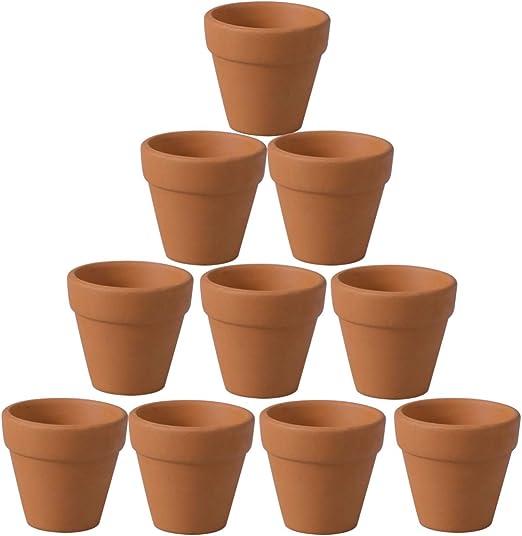 UPKOCH 20pcs 4.5x4cm Maceta Pequeña de Terracota de Cerámica, Pequeño Mini Terracota Maceta Cactus Macetas Suculentas Macetas Grandes para Plantas Artesanías Favor de la Boda: Amazon.es: Jardín