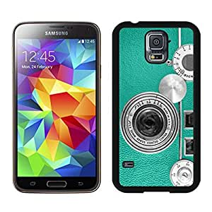 linJUN FENGAmazing Teal Retro Vintage Phone S5 Case for Girls Best Samsung Galaxy S5 Case for Boys Black Phone Cover