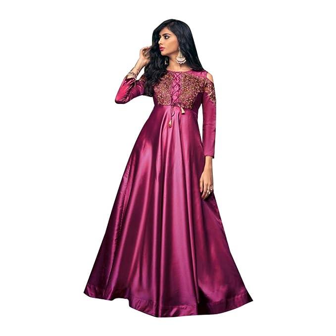 Amazon.com: Púrpura estilo Bollywood Indo-western Suave ...