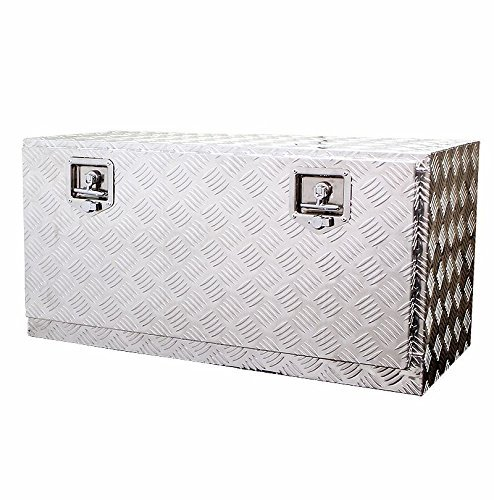 36″ Aluminum Truck Underbody Tool Box Trailer RV Tool Storage Under Bed w/Lock