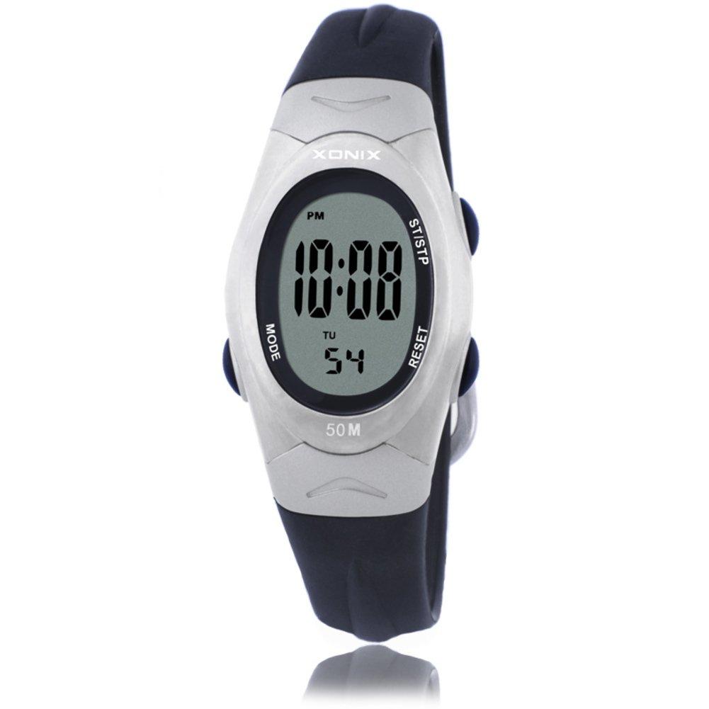 Children's multi-function digital electronic watch,Jelly led 50 m waterproof resin strap alarm stopwatch girls or boys fashion vintage wristwatch-A by CDKIHDHFSHSDH