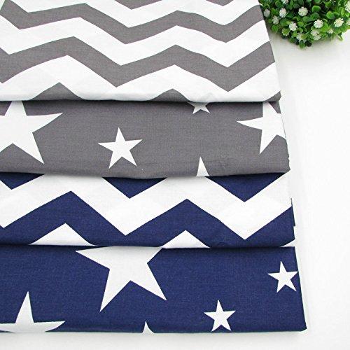 blue chevron upholstery fabric - 8