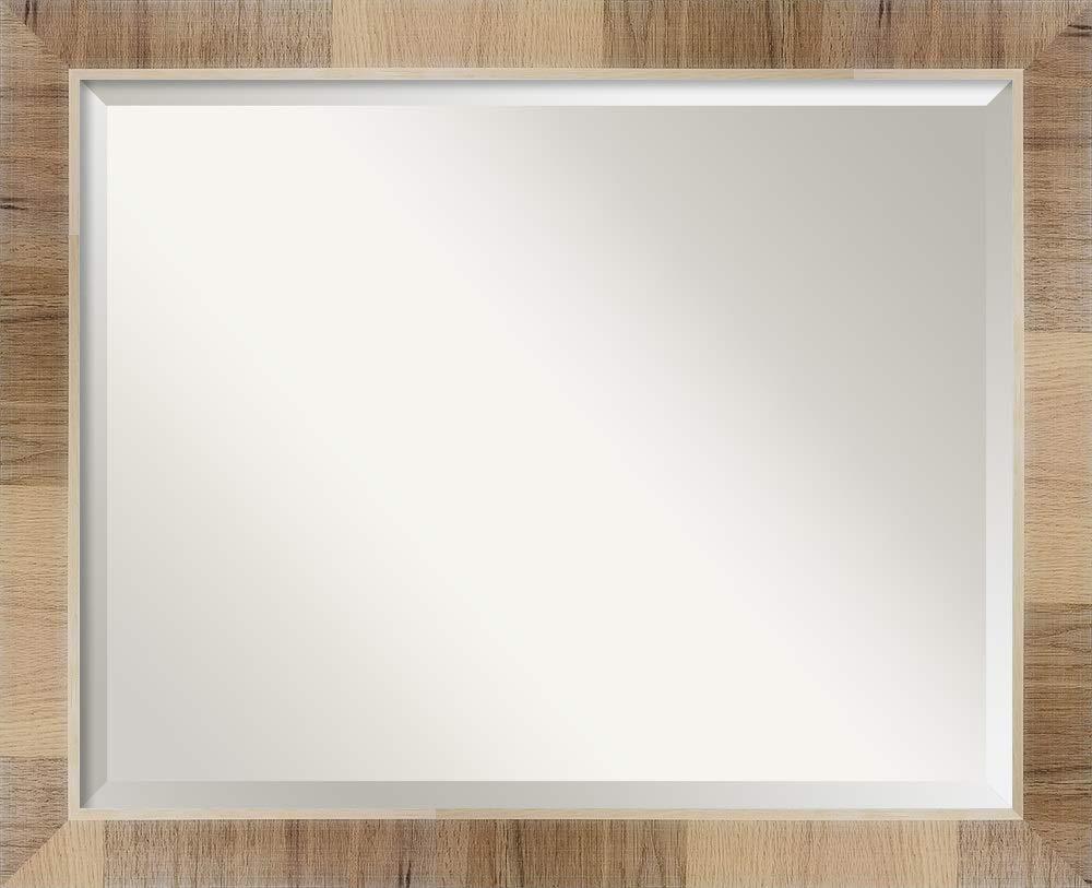 Amanti Art Natural Bathroom Vanity Mirror 22 x 28 glass size White Wash