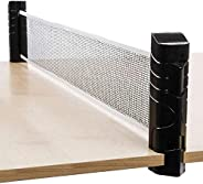 COYAVIC Retractable Ping Pong Net and Post for Any Table Adjustable Portable Telescopic Table Tennis Net Repla