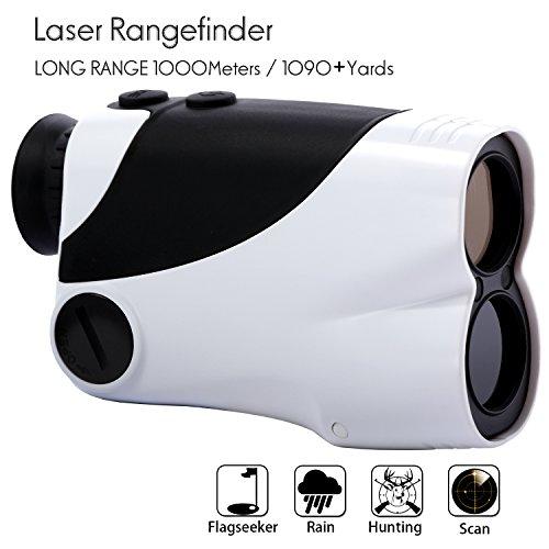 Golf Rangefinder – Yukiss® R10D-1000 Laser Rangefinder(6 X 25m) with 5 Modes - Flagseeker / Pinseeker - Scan -...