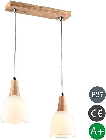 Hänge Leuchte Decken Raum-Beleuchtung Wohnzimmer Küchen Tisch Glas Lampe 39 cm