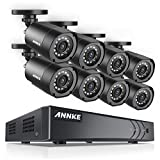 ANNKE Security Camera System 1080P Lite H.264+ 8CH Surveillance DVR and (8) 1080P HD Weatherproof Camera, Easy Remote View, Smart Playback, NO Hard Drive