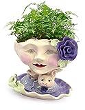 Victorian Lovelies Sculpted Indoor Head Planter: Bunny Rose Version