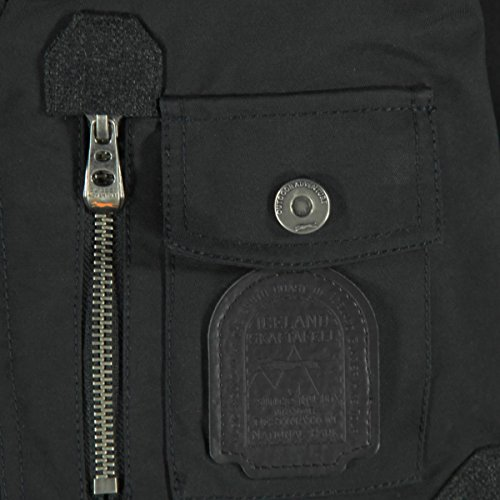 engbers Herren Modische Materialmixjacke, 24543, Schwarz