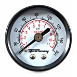 Forney 75565 Pressure Gauge with Rear Mount, 1/2-Inch Face, 1/8-Inch NPT, 0-160 PSI