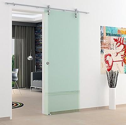 Correderas de cristal de las puertas de interiores 775 mm x 2050 mm abierta de ruedas